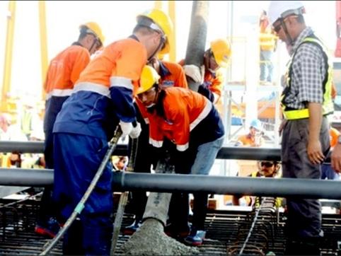 TP HCM đúc đốt dầm đầu tiên của tuyến Metro số 1