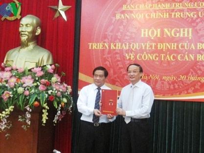 Ông Hà Ngọc Chiến giữ chức Phó Trưởng Ban Nội chính Trung ương