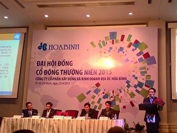 ĐHCĐ HBC: Đặt kế hoạch lãi 2015 gấp 2,6 lần năm 2014
