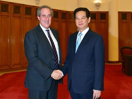 Thủ tướng Nguyễn Tấn Dũng tiếp Đại diện Thương mại Hoa Kỳ