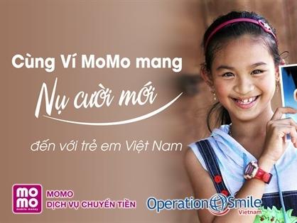 Ví MoMo trở thành đối tác của Operation Smile