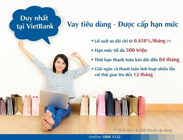 VietBank tiên phong ra mắt sẩn phẩm vay tiêu dùng được cấp hạn mức tín dụng