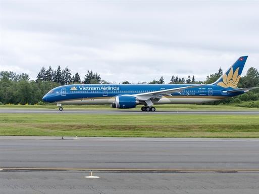 Vietnam Airlines bay thử thành công máy bay mới tại Mỹ
