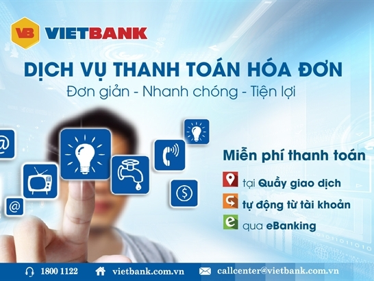 Dịch vụ thanh toán hóa đơn đầy tiện lợi tại Vietbank