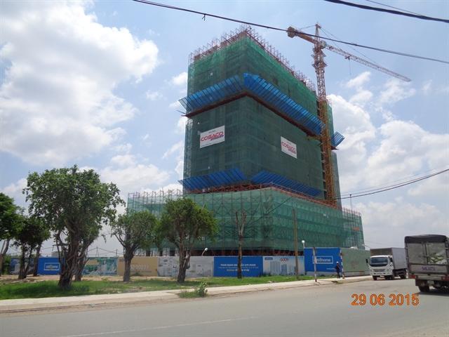 Block A Citihome dự kiến cất nóc vào giữa tháng 7