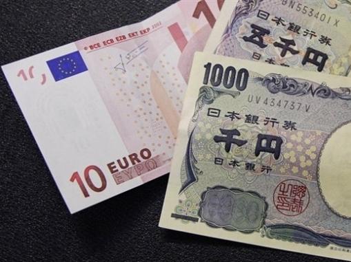 Euro tăng mạnh nhất 5 tuần so với yên