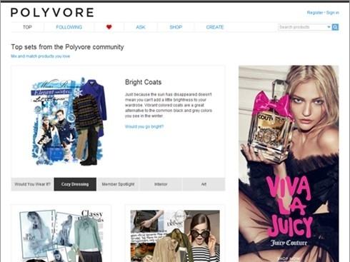 Yahoo mua lại trang web thời trang Polyvore