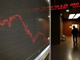 Chứng khoán Hy Lạp sụt giảm 23%