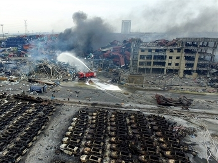Trung Quốc lo xảy ra thảm họa môi trường sau vụ nổ ở Thiên Tân