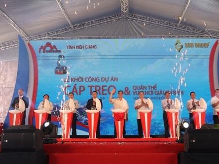 Sun Group khởi công dự án cáp treo dài nhất thế giới tại Phú Quốc