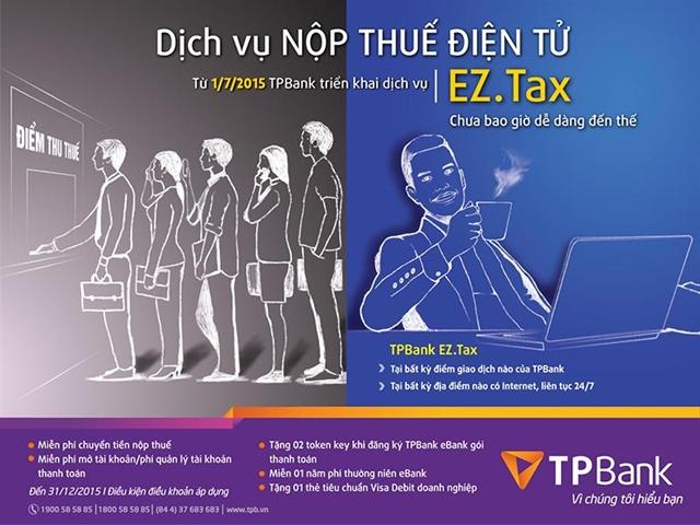 Doanh nghiệp nộp thuế điện tử nhanh chóng và nhiều ưu đãi tại TPBank