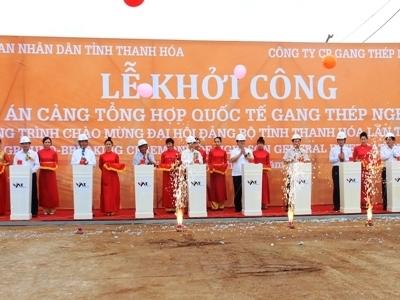 Khởi công Cảng Quốc tế Gang thép Nghi Sơn 6.000 tỷ đồng