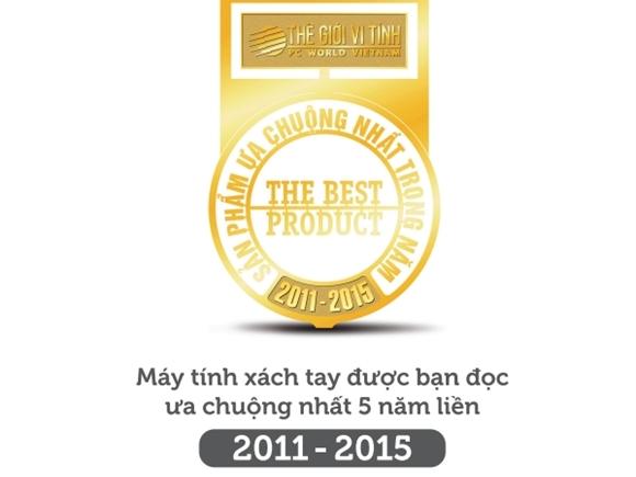 Dell được bình chọn là sản phẩm CNTT - TT được ưa chuộng nhất 5 năm liền