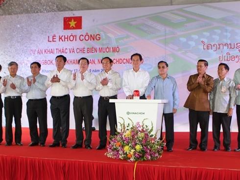Vinachem đầu tư 522 triệu USD dự án muối mỏ tại Lào