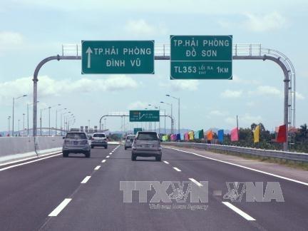 Ngày 26/9 thông tiếp 50km cao tốc Hà Nội - Hải Phòng