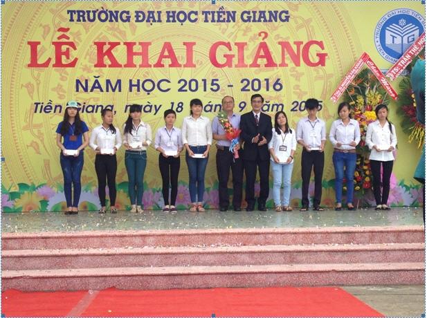HANSAE TG trao học bổng cho sinh viên Đại học Tiền Giang