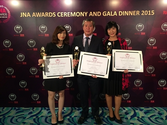 PNJ đoạt giải Employer Of The Year - JNA Awards 2015