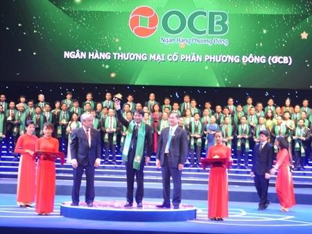 """OCB vinh dự nhận giải thưởng """"Sao Vàng Đất Việt"""" năm 2015"""