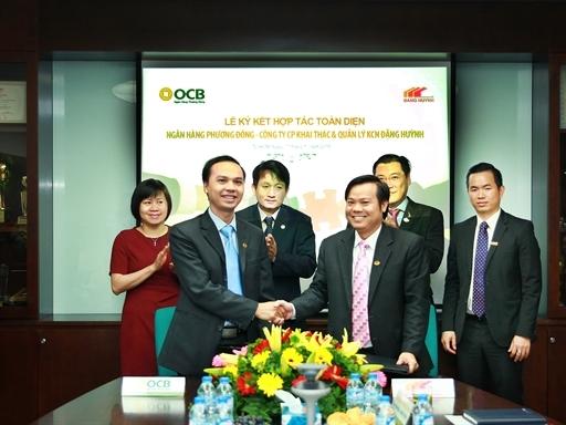OCB ký kết hợp tác toàn diện với Công ty Khai thác và Quản lý Khu Công nghiệp Đặng Huỳnh