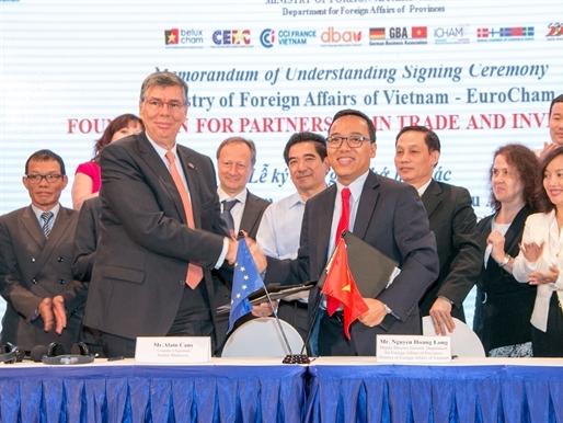 Eurocham ký kết hợp tác với Bộ Ngoại giao