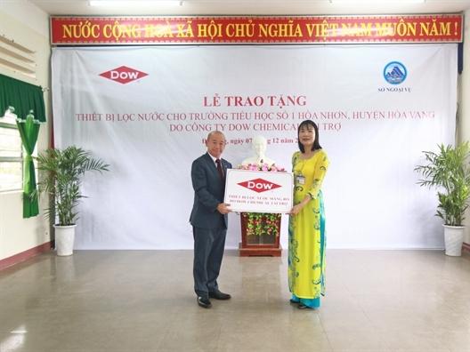 Dow tài trợ nước uống sạch cho gần 1.500 em học sinh Đà Nẵng