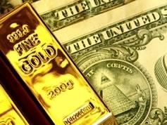 Giá vàng rơi khỏi đỉnh 3 tuần do USD tăng mạnh