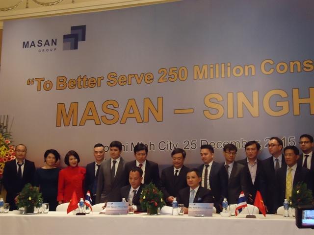 Masan ký hợp tác 1,1 tỷ USD với hãng bia lớn nhất Thái Lan