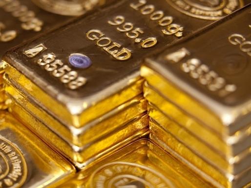 Giá vàng vượt mốc 1.100 USD/ounce lần đầu tiên 9 tuần qua
