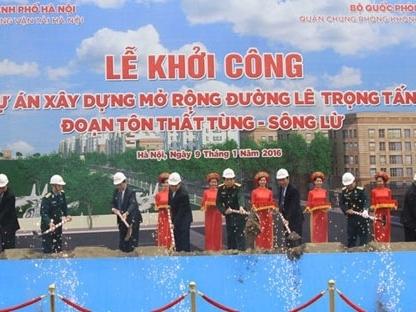 Hà Nội chi gần 230 tỷ mở rộng 1,5km đường Lê Trọng Tấn