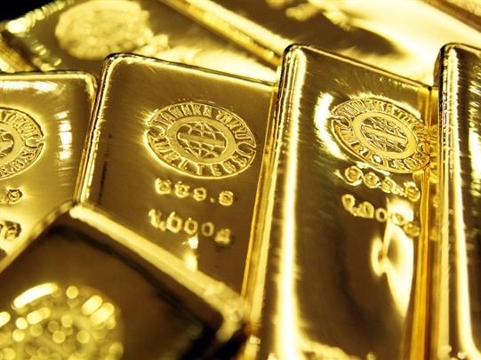 Giá vàng tăng mạnh khi chứng khoán toàn cầu lao dốc