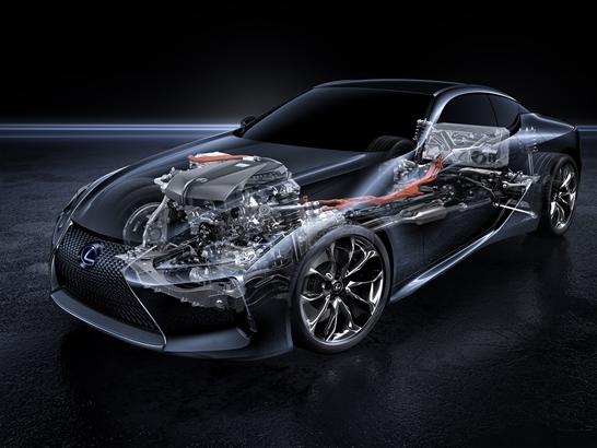 Ra mắt Lexus LC 500h - Đánh dấu động cơ Hybrid Multi Stage thế hệ mới