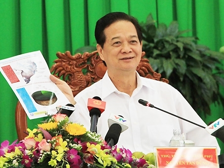 Thủ tướng Nguyễn Tấn Dũng: 'Cả hệ thống chính trị phải vào cuộc chống hạn, mặn'