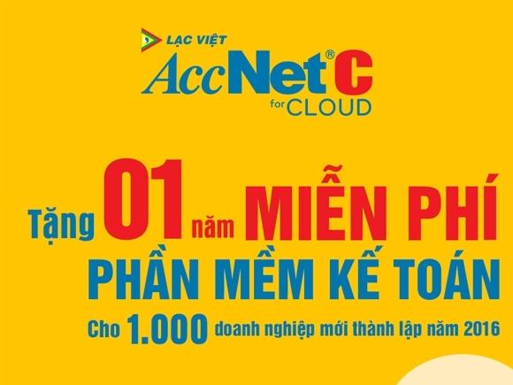 Lạc Việt tặng 01 năm sử dụng miễn phí phần mềm kế toán AccNetC