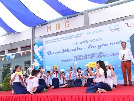Tập đoàn Suntory nhân rộng dự án tuyên truyền giáo dục ý thức bảo vệ tài nguyên nước tới các trường tiểu học miền Nam