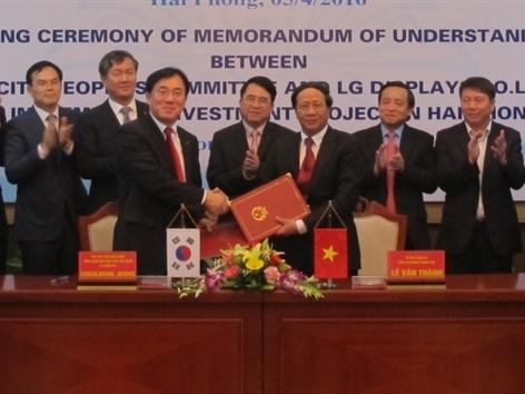 LG đầu tư 1,5 tỷ USD xây nhà máy tại Hải Phòng