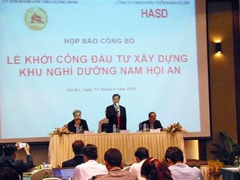 Xây casino Nam Hội An trên diện tích gần 1.000ha