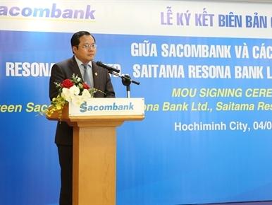 Sacombank hợp tác với tập đoàn tài chính lớn thứ 4 Nhật Bản