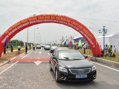 Thông xe tuyến đường kết nối giữa Hà Nội và Vĩnh Phúc