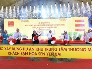 Khởi công TTTM, khách sạn 1.200 tỷ đồng, tập đoàn Hoa Sen lấn sân sang bất động sản