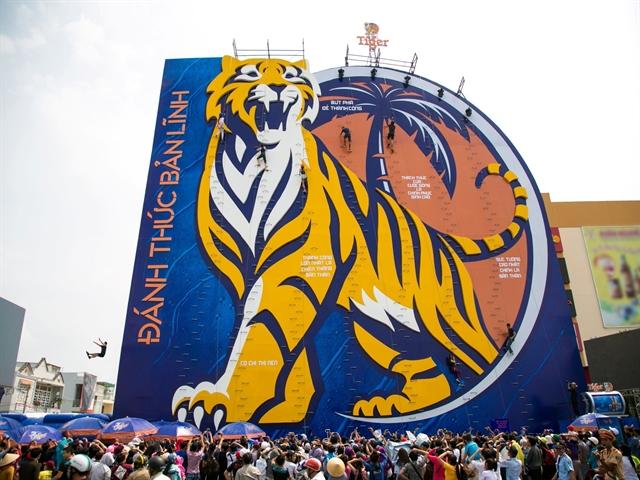 Bức tường Tiger đã đến TPHCM!