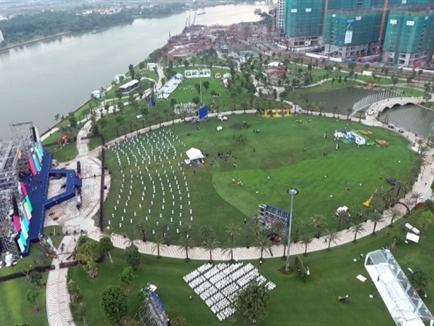 Vingroup sắp khai trương công viên ven sông lớn nhất Sài Gòn