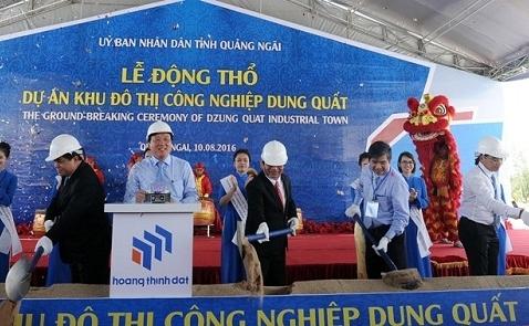 Động thổ khu đô thị công nghiệp Dung Quất 1.300ha