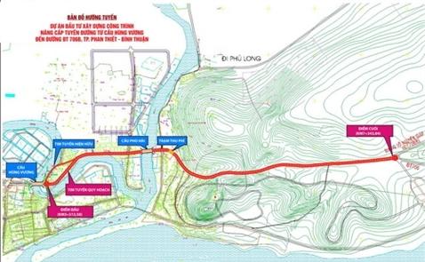300 tỷ đồng mở rộng đường nối Phan Thiết ra Mũi Né và sân bay