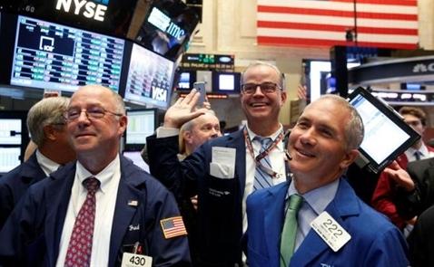 Chứng khoán Mỹ tăng điểm do lo ngại Fed nâng lãi suất lắng dịu