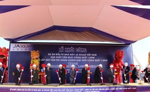 Khởi động nhà máy pin mặt trời 320 triệu USD tại Bắc Giang