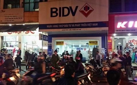 Ngân hàng BIDV ở Huế bị cướp, nghi có nổ súng