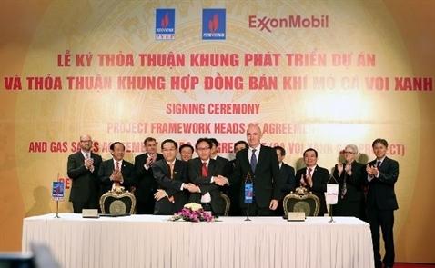 PVN, Exxon Mobil ký thỏa thuận khai thác mỏ khí lớn nhất Việt Nam