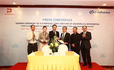 Digiworld bắt tay Singapore cung cấp dịch vụ đám mây cho doanh nghiệp