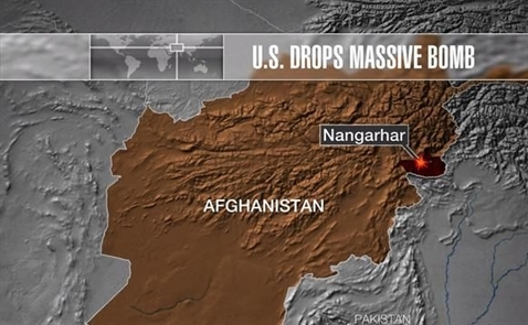 Mỹ thả loại bom phi hạt nhân mạnh nhất tại Afghanistan