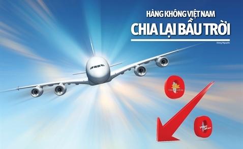 Hàng không Việt Nam chia lại bầu trời